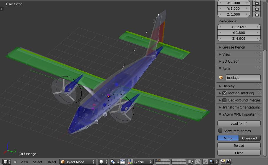 Blender] Import from X-Plane, FS9/FSX, FlightGear - YSFlight