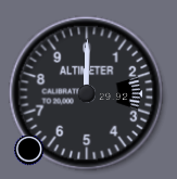 Altmeter of default Cesna