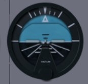 Attitude indicator of default Cesna
