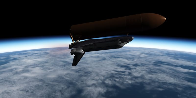 Final stage in the flight to orbit
