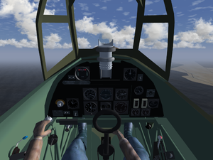 Hawker Hurricane cockpit