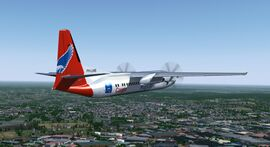Fokker 50 in Denim Air livery