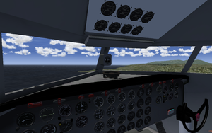 View of the cockpit