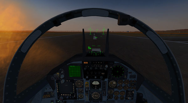 Richard Harrison's new F-15 Eagle on the runway at KSFO with the new ALS cockpit effects