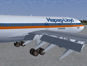A310-300 deploying flaps
