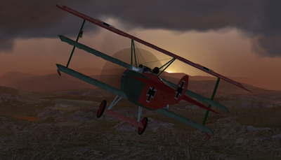 Fokker Dr.1 heading home