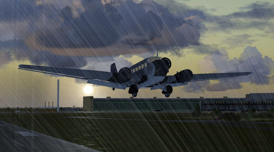 Bad weather take off from EDDI