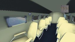 WiP Lockheed L10 Electra Cabin from the front towards the tail end