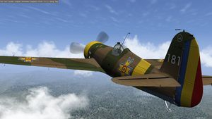The IAR 80 in its the default livery.