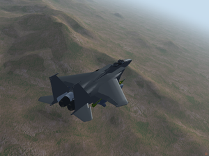 F-15E flying over Nevada with A/G configuration