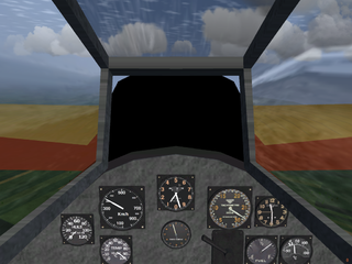 Detail of the cockpit