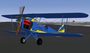 Stampe SV.4 with engine doors opened
