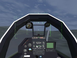 Dassault Mirage F1 cockpit with a custom compass.