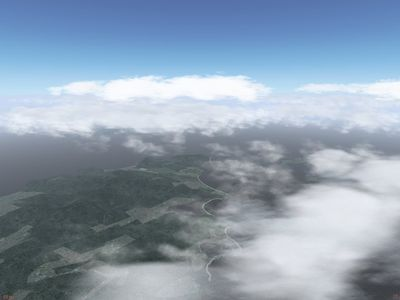 Terrain shading by clouds