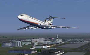 Tupolev 154-B taking off from Schiphol