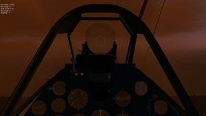The IAR 80's cockpit as dusk