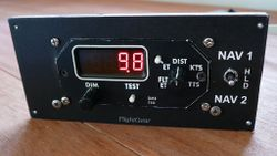 [DME indicator, front view