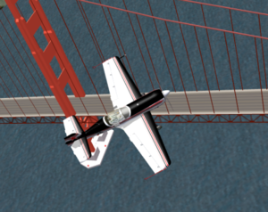 Su-26 over the Golden Gate Bridge