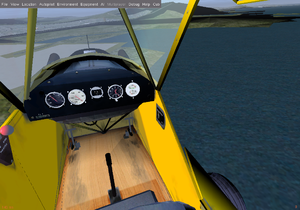 Piper Cub cockpit in version 2.4