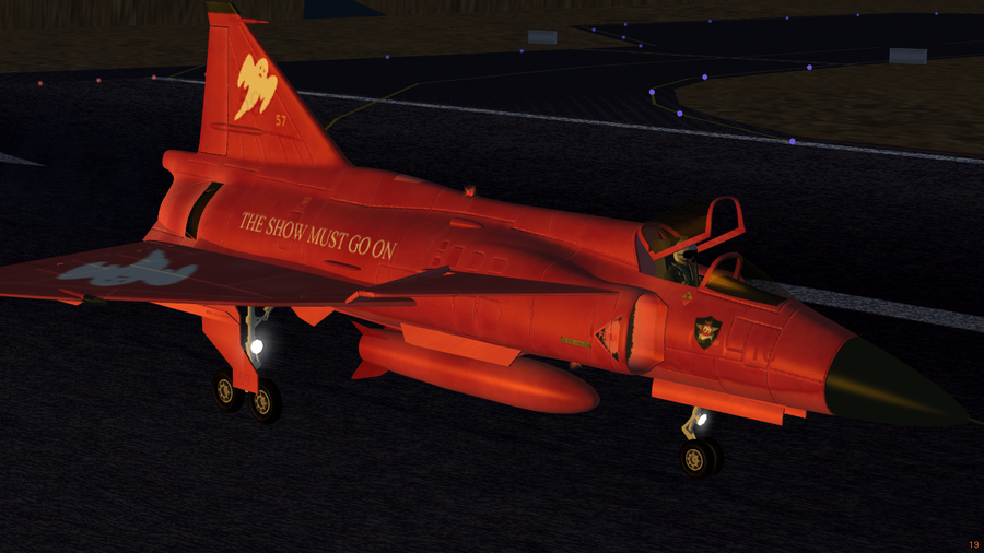 Red ghost livery for the Saab JA-37 Viggen
