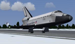 during a space shuttle landing a parachute deploys - photo #29