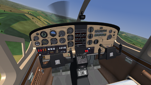 General view of the Skymaster cockpit
