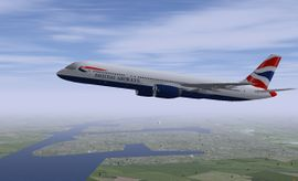 The 757-200 in the British Airways livery