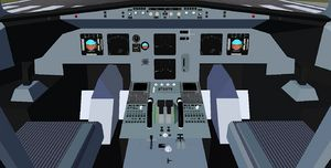 The 3d cockpit of the A320 family, currently under development