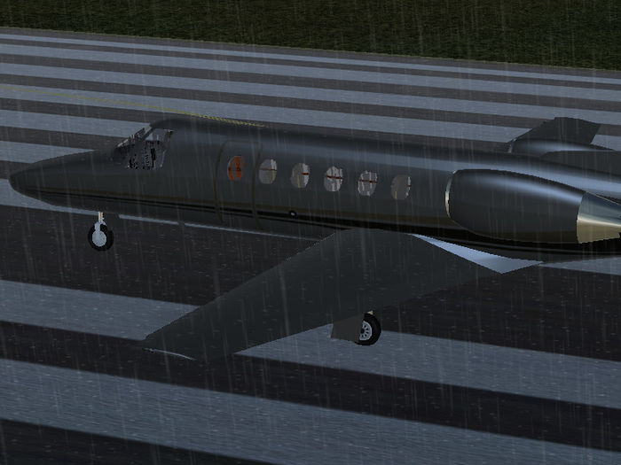 Rain effect on the Citation Bravo