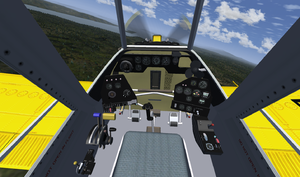 The PZL-Mielec M-18 Dromader cockpit