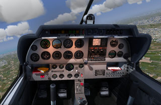 Cockpit of Robin DR400 Dauphin