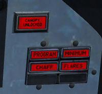 Canopy warning panel