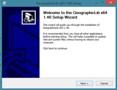GeographicLib - Setup wizard (first screen).png