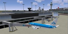 Schiphol in the FlightGear NL scenery