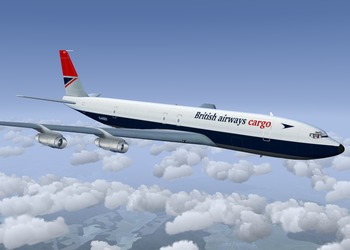 British Airways Cargo livery for the Boeing 707