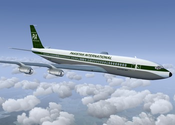 Pakistan International airlines livery for the Boeing 707