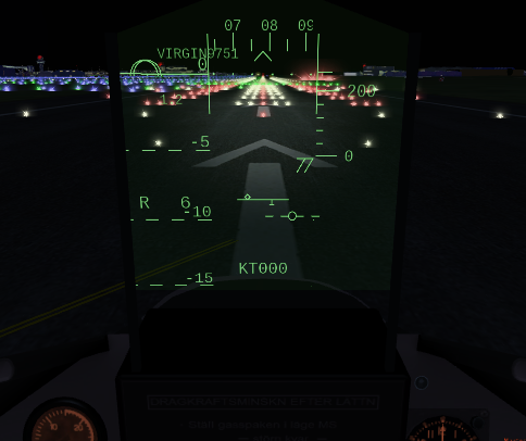 This is typical HUD situation before takeoff.