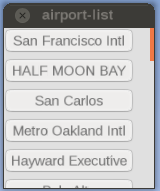 airport-list widget re-implemented using Canvas ScrollArea and Buttons arranged in a VBox layout