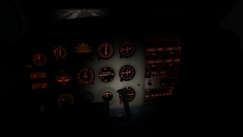 Cessna 172P's flashlight in the cockpit