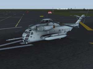 CH-53E on the runway at KJFK