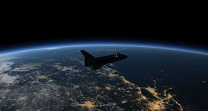 Space Shuttle Atlantis in orbit