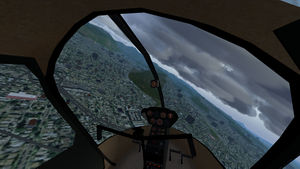 The Robinson R22 cockpit