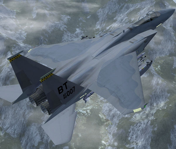 F-15C Over the Alps (with updated livery)