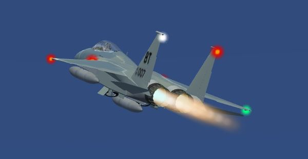 Richard Harrison's new F-15 Eagle with the new afterburner effect