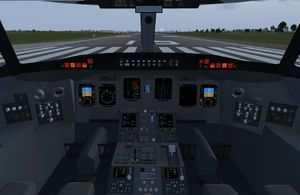 The 3d cockpit of the CRJ700 series