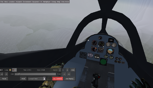 Cockpit view of the Arrow