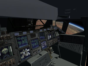 Space Shuttle cockpit (April 2015)