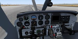 The Virtual Cockpit (HSI Panel)