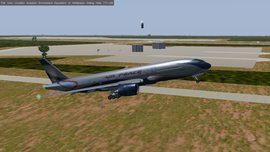 Air Peace 777 taking off from DNMM