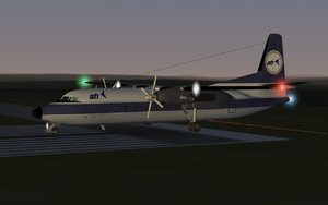 Fokker 27 in ATS colors